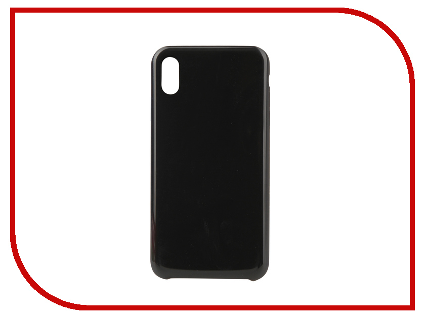 Аксессуар Чехол Innovation Silicone для APPLE iPhone XS Max Black 12849 аксессуар чехол innovation jeans для apple iphone 7 8 white 10774