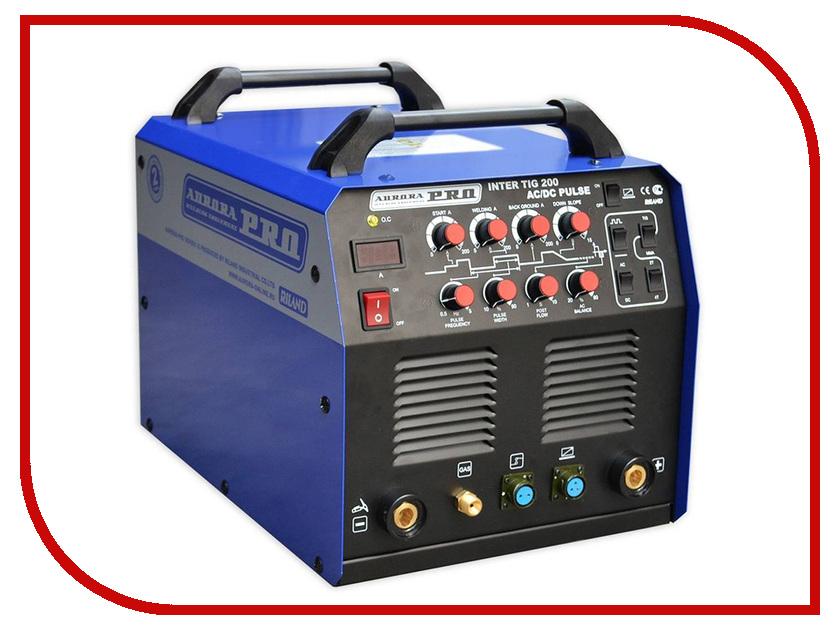 Сварочный аппарат Aurora Inter Tig 200 AC/DC Pulse Mosfet сварочный инвертор дуговой сварки aurora inter 200