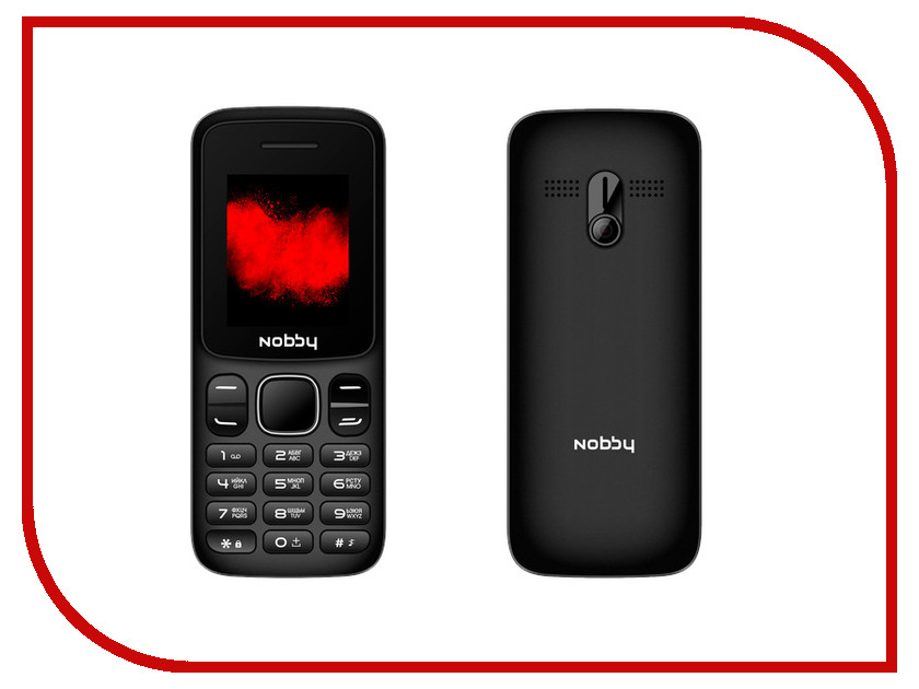Сотовый телефон Nobby 101 Black-Gray телефон