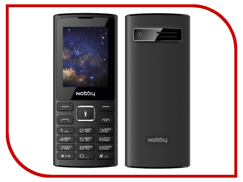 Сотовый телефон Nobby 210 Black сотовый телефон elari cardphone black