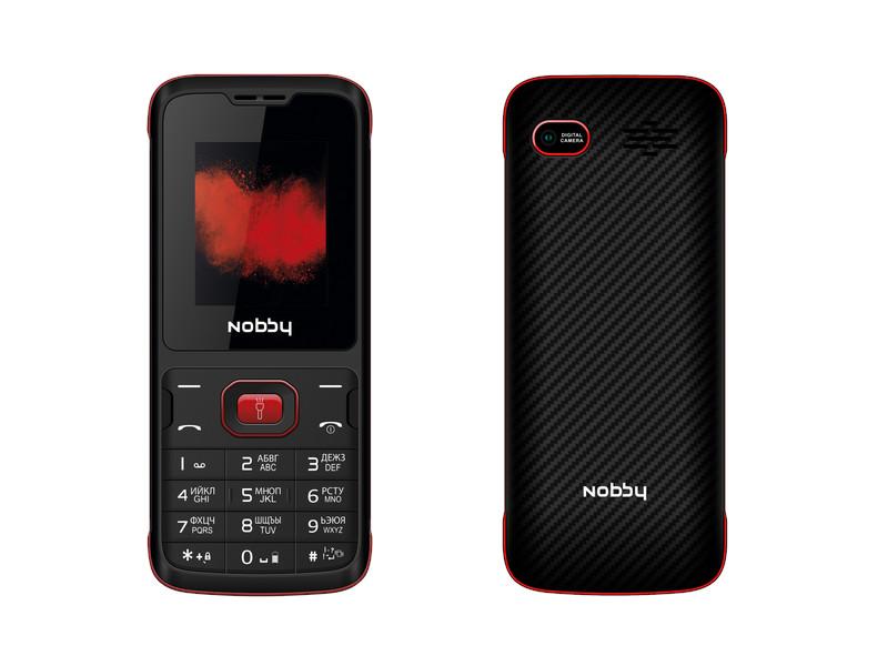 Сотовый телефон Nobby 110 Black-Red