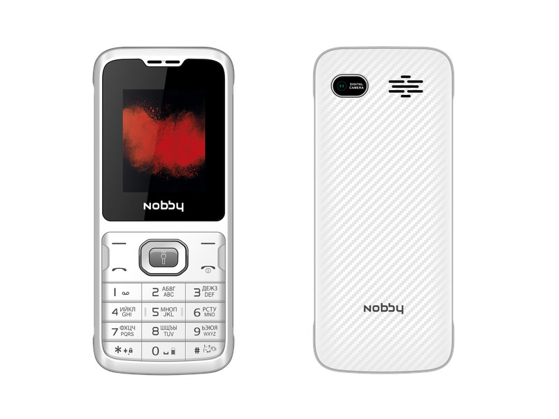 Сотовый телефон Nobby 110 White-Gray