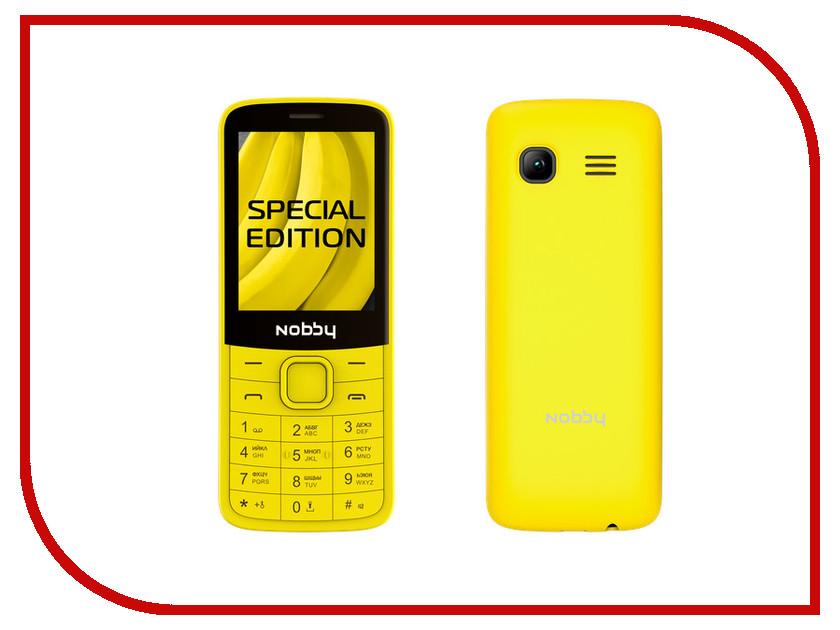 Сотовый телефон Nobby 220 Yellow сотовый телефон digma linx a177 2g