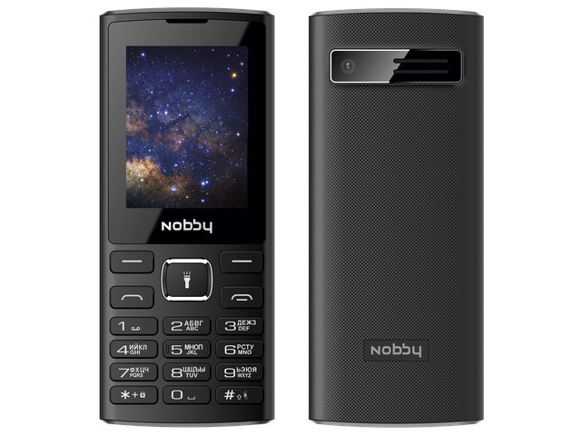 Сотовый телефон Nobby 210 Black-Gray сотовый телефон vertex impress tor black orange
