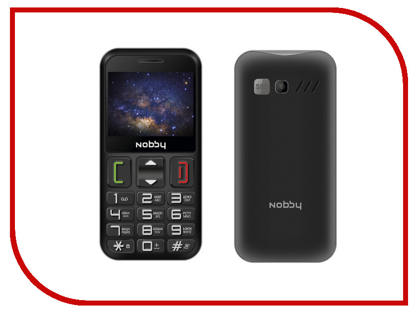 Сотовый телефон Nobby 240B Black-Grey телефон