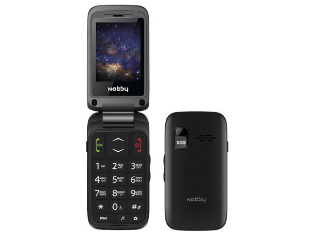 Сотовый телефон Nobby 240C Black сотовый телефон vertex impress tor black orange