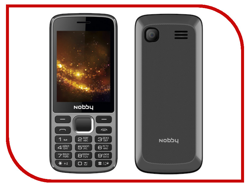 Сотовый телефон Nobby 300 Grey-Black сотовый телефон lenovo p780 в мытищах