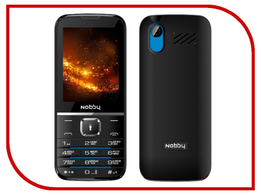 Сотовый телефон Nobby 310 Black-Blue сотовый телефон jinga simple f215 black