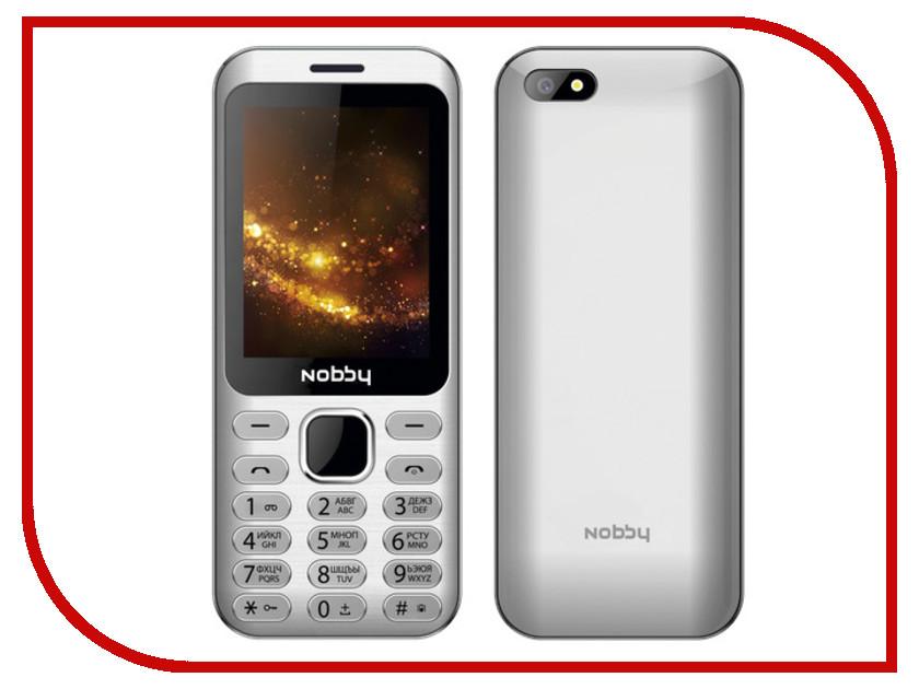 Сотовый телефон Nobby 320 Silver сотовый