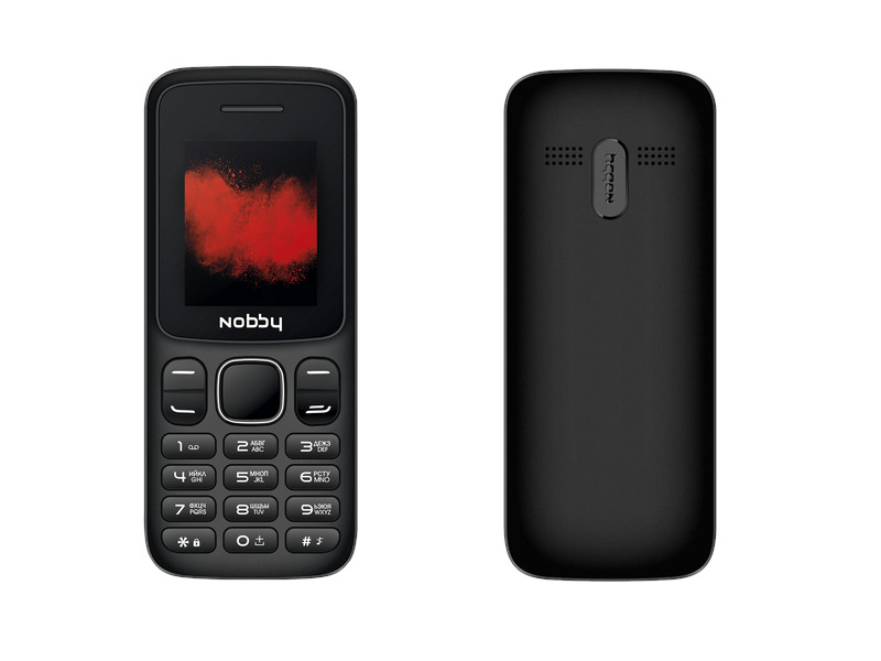 Сотовый телефон Nobby 100 Black-Grey