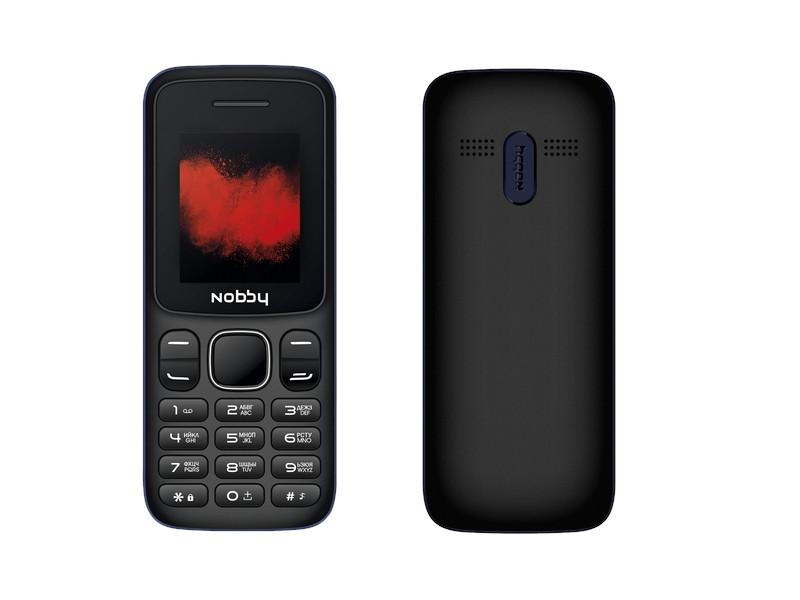 Сотовый телефон Nobby 100 Black-Blue сотовый телефон vertex impress tor black orange