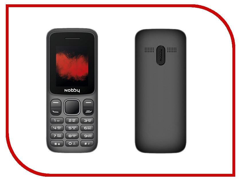 Сотовый телефон Nobby 100 Grey-Black сотовый телефон philips s386 navy