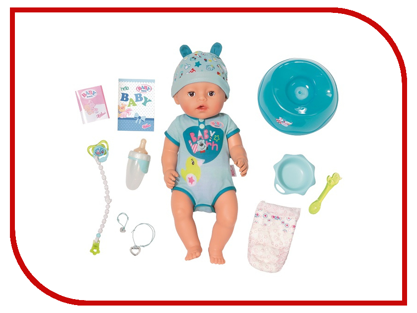 Кукла Zapf Creation Baby Born Мальчик 824-375 погодная станция oregon scientific bar268hg b black