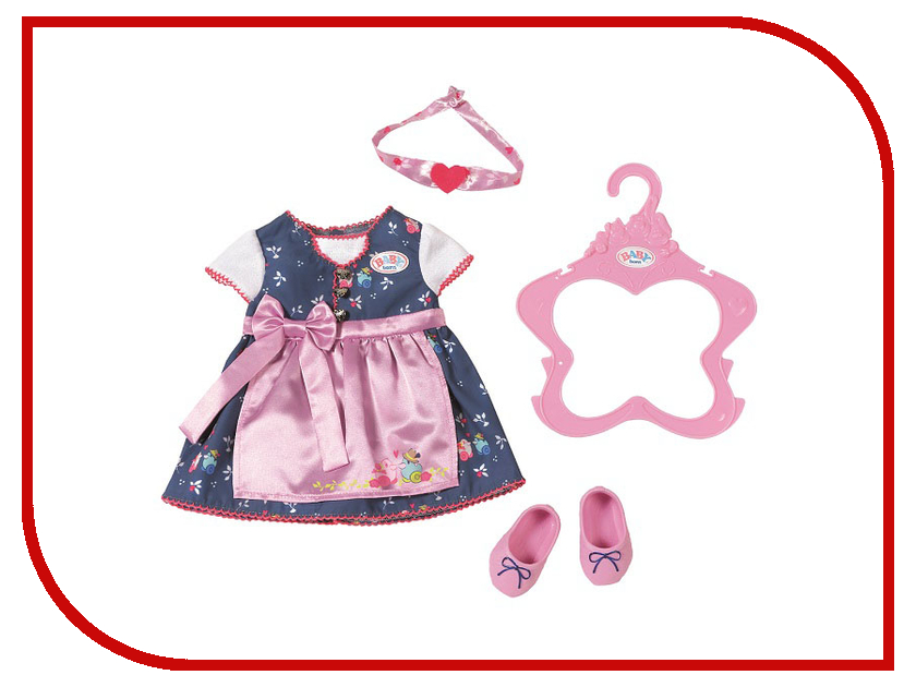 Одежда для куклы Zapf Creation Платье и обувь для куклы Baby Born 824504