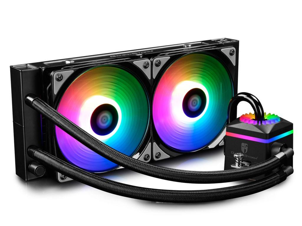 Водяное охлаждение DeepCool Captain 240 Pro ( Intel LGA2066/2011-v3/2011/1151/1150/1155/LGA1366 AMD TR4/AM4/AM3+/AM3/AM2+/AM2/FM2+/FM2/FM1)