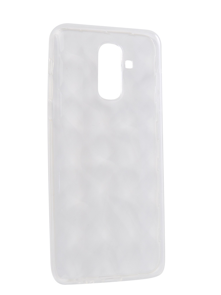 Чехол SkinBox для Samsung Galaxy J8 2018 Slim Silicone Diamond Transparent T-S-SGJ82018-007