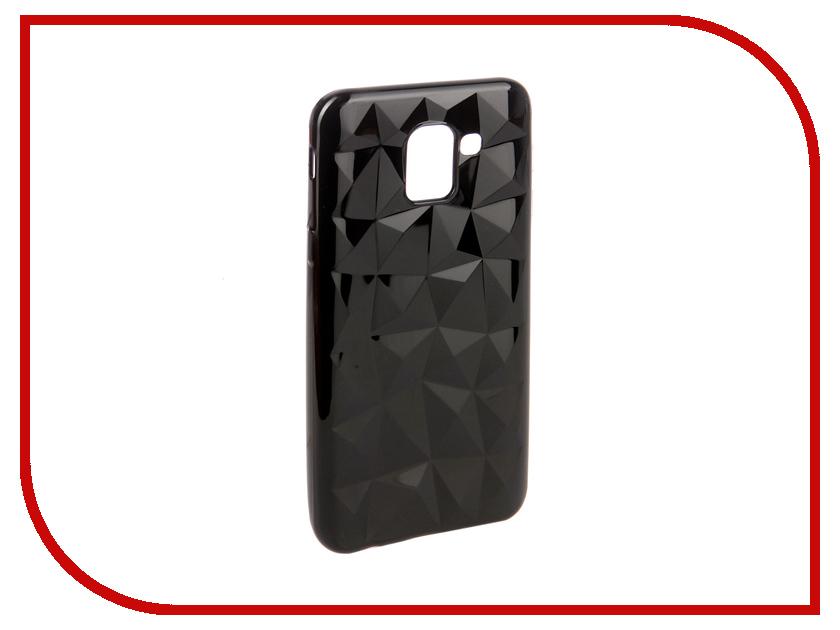Аксессуар Чехол для Samsung Galaxy J6 2018 SkinBox Slim Silicone Diamond Black T-S-SGJ62018-007