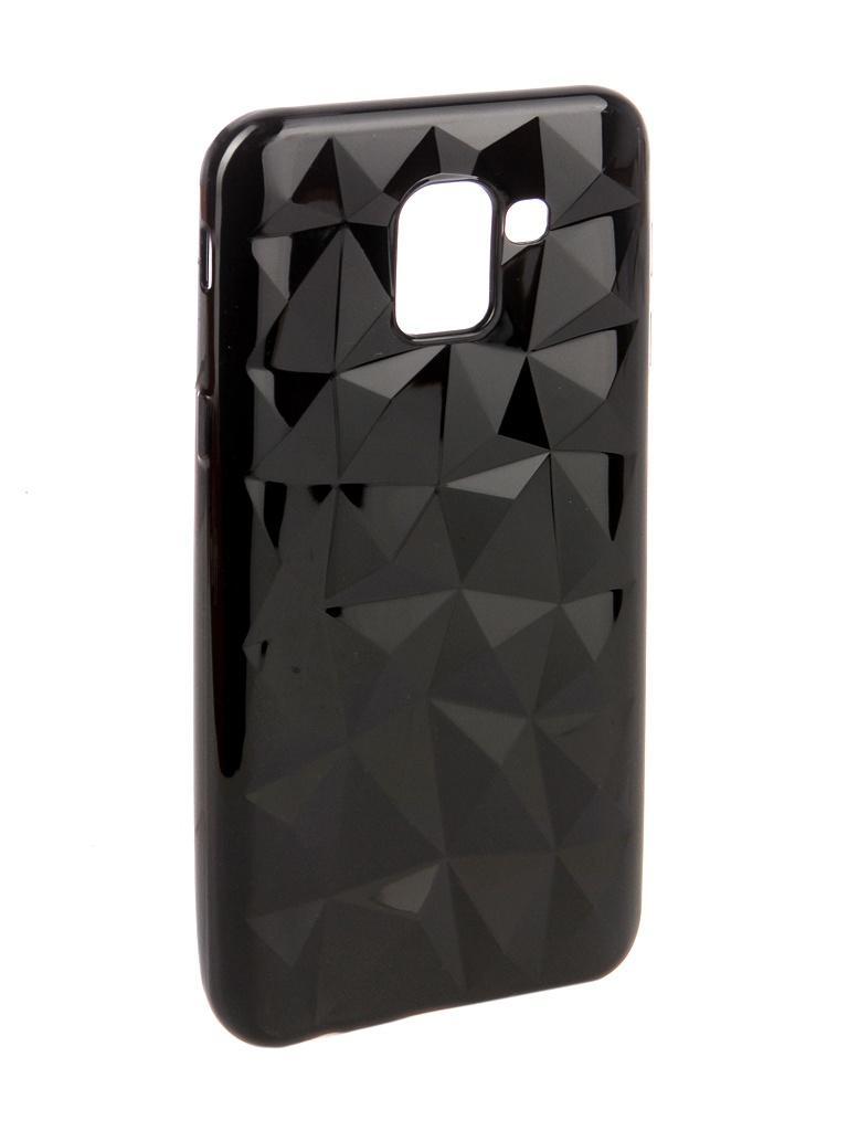 Аксессуар Чехол SkinBox для Samsung Galaxy J6 2018 Slim Silicone Diamond Black T-S-SGJ62018-007 чехол крышка skinbox diamond для samsung galaxy a6 2018 черный