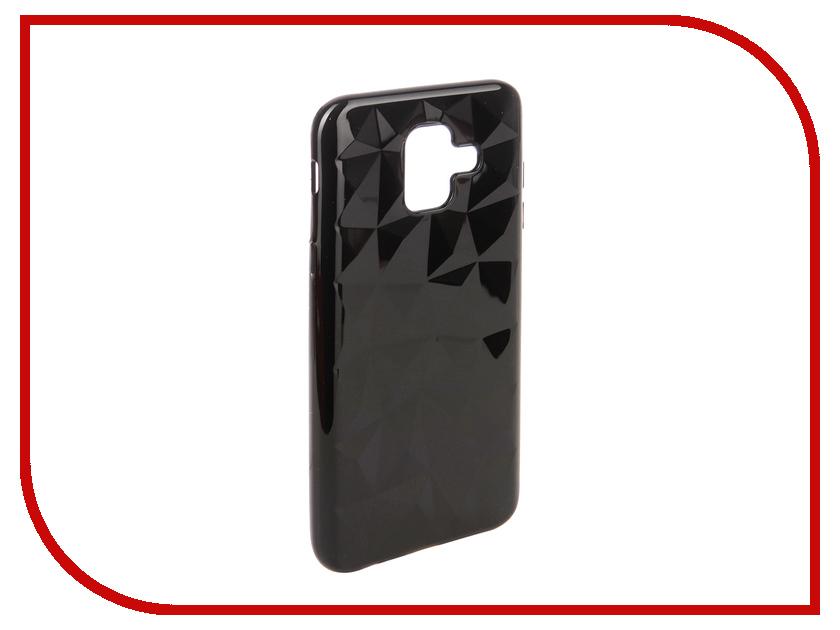 Аксессуар Чехол для Samsung Galaxy A6 2018 SkinBox Slim Silicone Diamond Black T-S-SGA62018-007 skinbox slim silicone чехол для samsung galaxy a6 2018 transparent