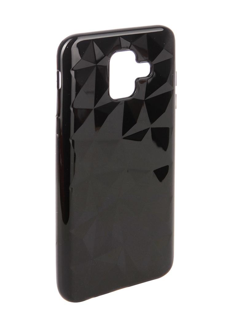 Аксессуар Чехол SkinBox для Samsung Galaxy A6 2018 Slim Silicone Diamond Black T-S-SGA62018-007 t s 450df