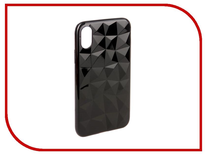 Аксессуар Чехол для APPLE iPhone X SkinBox Slim Silicone Diamond Black T-S-AIX-007