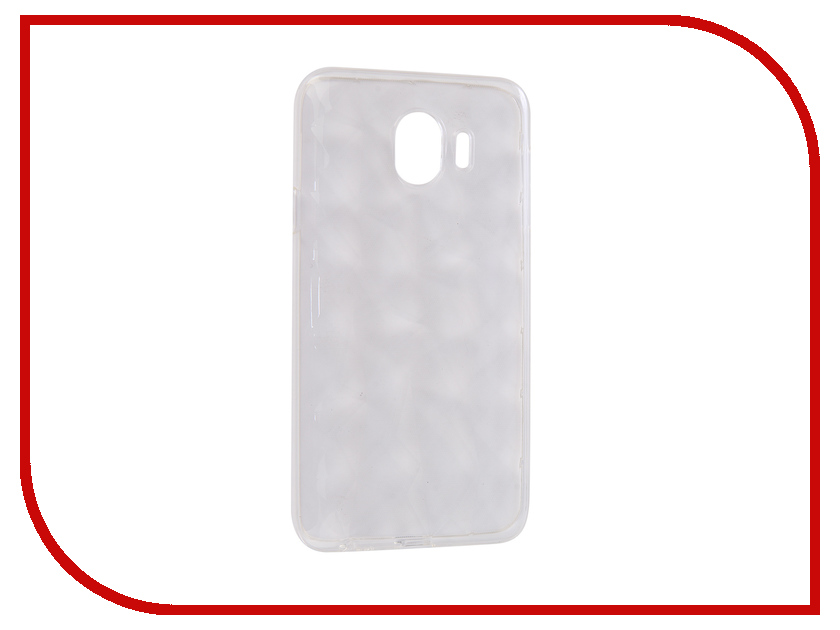 Аксессуар Чехол для Samsung Galaxy J4 2018 SkinBox Slim Silicone Diamond Transparent T-S-SGJ42018-007 аксессуар чехол huawei honor 5x skinbox slim silicone transparent t s hh5x 006