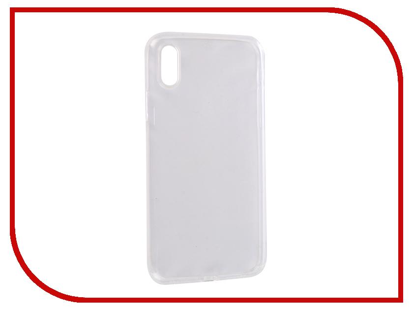 Аксессуар Чехол для APPLE iPhone X SkinBox Slim Silicone Dustproof Transparent T-S-AIX-008 аксессуар чехол huawei honor 5x skinbox slim silicone transparent t s hh5x 006