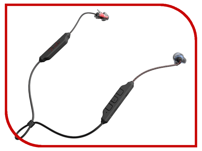 Fender PureSonic Wireless Earbud Black-Red-Blue