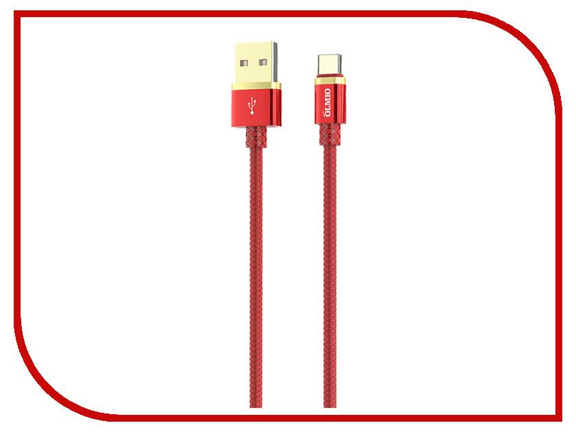 Аксессуар Olmio Deluxe USB 2.0 - USB Type-C 1m 2.1A Red ПР038856 аксессуар olmio deluxe usb 2 0 usb type c 1m 2 1a blue пр038857