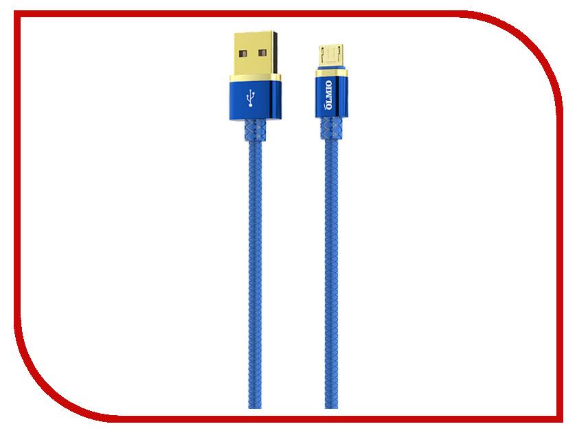 Аксессуар Olmio Deluxe USB 2.0 - microUSB 1m 2.1A Blue ПР038854 аксессуар olmio deluxe usb 2 0 usb type c 1m 2 1a blue пр038857