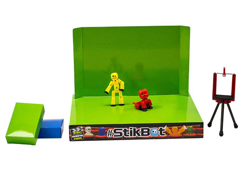 Игрушка Zing Stikbot Анимационная студия со сценой и питомцем TST617A