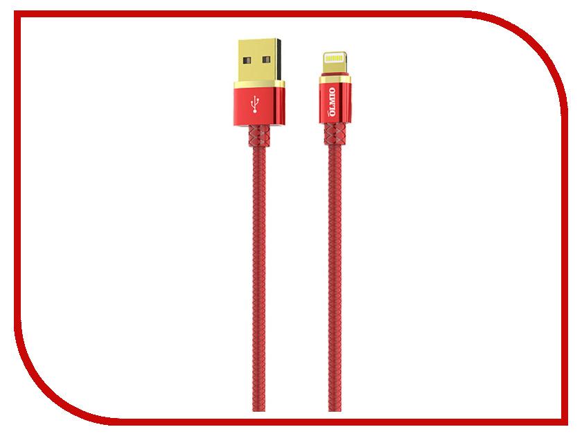Аксессуар Olmio Deluxe USB 2.0 - Lightning 1m 2.1A Red ПР038850 аксессуар olmio deluxe usb 2 0 usb type c 1m 2 1a blue пр038857