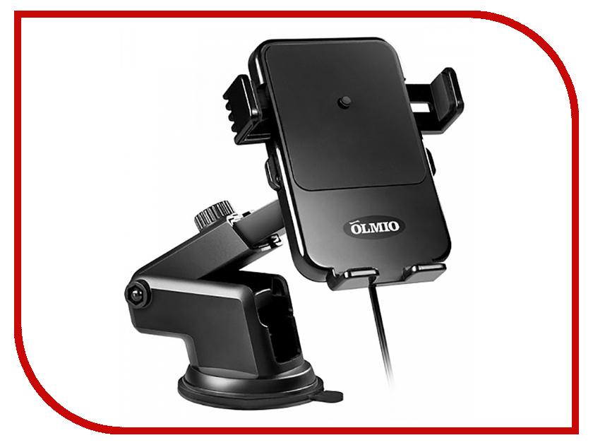 Держатель Olmio с беспроводной зарядкой QI Black ПР038848 держатель red line qi с беспроводной зарядкой дизайн samsung black ут000012287