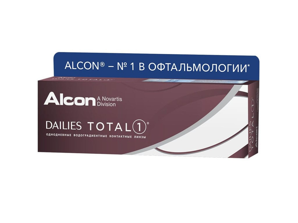 Контактные линзы Alcon Dailies Total 1 (30 линз / 8.5 / -1.75)