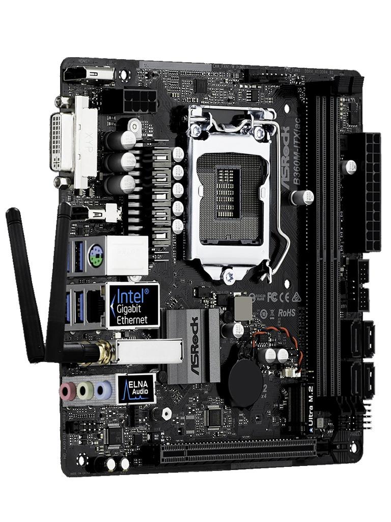 Материнская плата ASRock B360M-ITX/ac