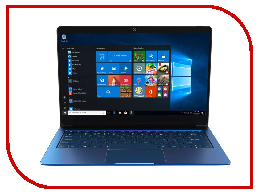 Ноутбук Irbis NB125 Blue (Intel Celeron N3350 1.1 GHz/3072Mb/32Gb/Intel HD Graphics/Wi-Fi/Bluetooth/Cam/12.5/1920x1080/Windows 10) ноутбук krez n1304 black intel celeron n3350 1 1 ghz 3072mb 32gb no odd intel hd graphics wi fi bluetooth cam 13 3 1920x1080 windows 10 pro