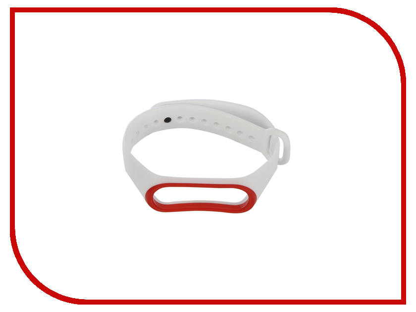 Aксессуар Ремешок Gurdini Silicone для Xiaomi Mi Band 3 White-Red 907371 3 in 1 5mw red laser 3 led white