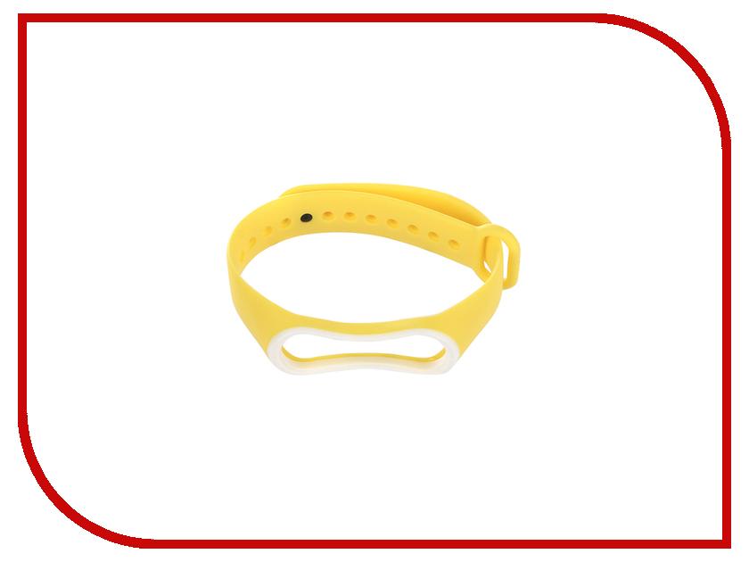 Aксессуар Ремешок Gurdini Silicone для Xiaomi Mi Band 3 Yellow-White 907370 2 piece male bnc crimp on connector cctv rg59 coax bnc crimp on bnc male adapter connector for cctv camera 100pcs lot
