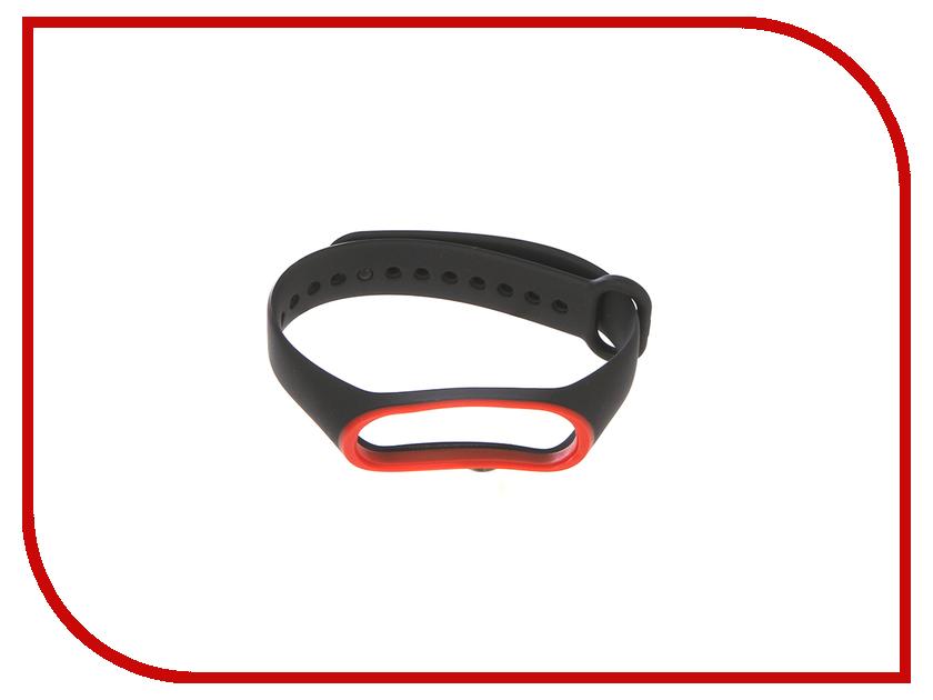 Aксессуар Ремешок Gurdini Silicone для Xiaomi Mi Band 3 Black-Red 907354 silicone band red led digital wrist watch blue 1 x cr2032