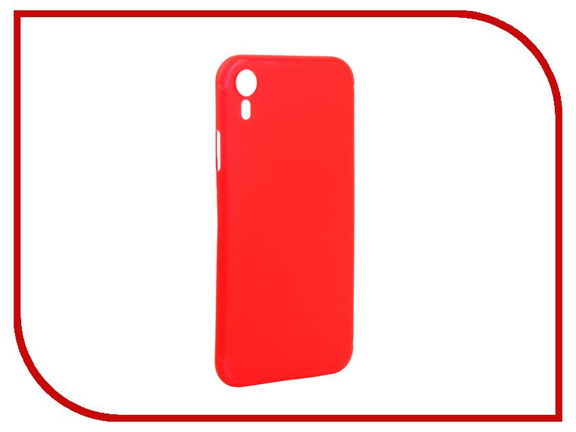 Аксессуар Чехол Gurdini Ultra Twin 0.1m для APPLE iPhone XR 6.1 Red 907318