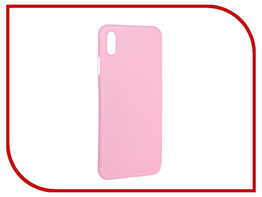 Аксессуар Чехол для APPLE iPhone XS Max Gurdini Ultra Slim 0.1mm Pink 907314