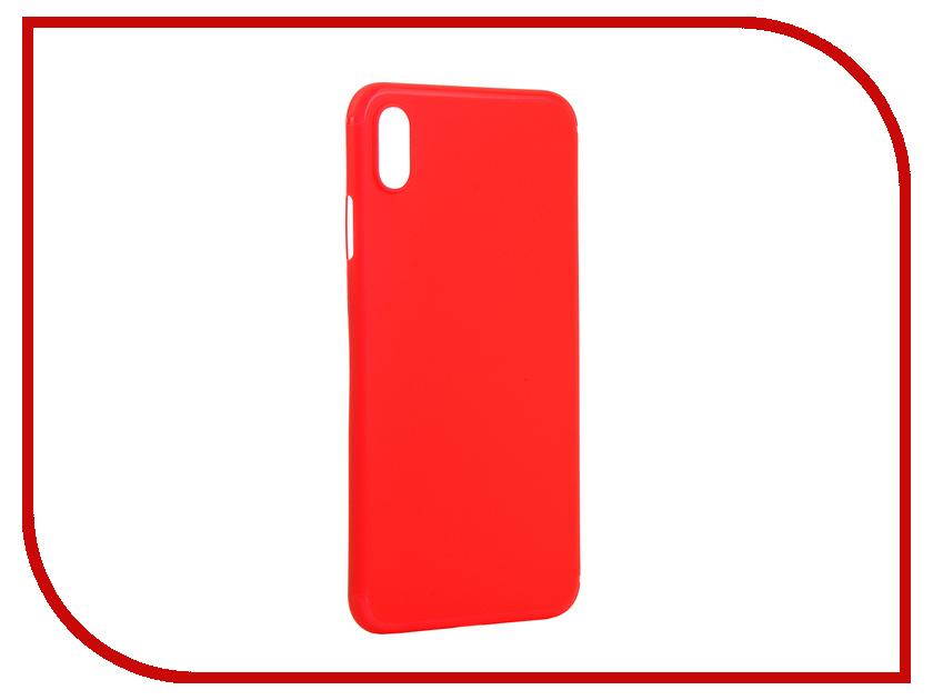 Аксессуар Чехол для APPLE iPhone XS Max Gurdini Ultra Slim 0.1mm Red 907313 gangxun blackview a8 max корпус высокого качества кожа pu флип чехол kickstand anti shock кошелек для blackview a8 max