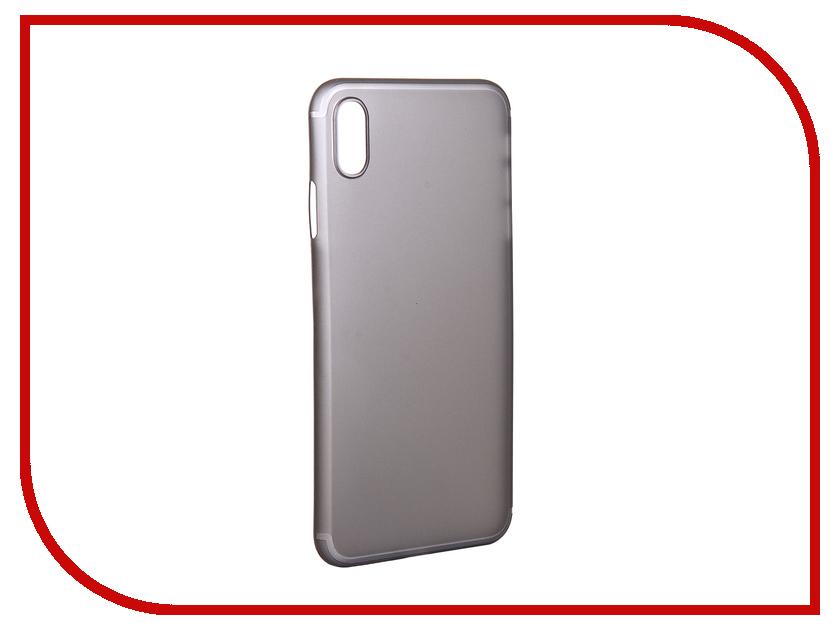 Аксессуар Чехол для APPLE iPhone XS Max Gurdini Ultra Slim 0.1mm Grey 907312