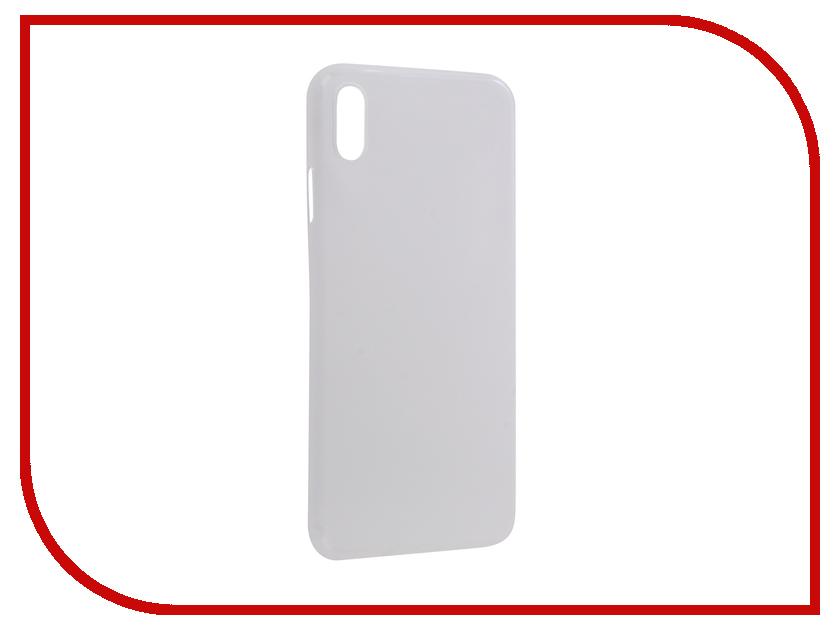 Аксессуар Чехол Gurdini Ultra Slim 0.1mm для APPLE iPhone XS Max 6.5 White 907311 аксессуар чехол bq bqs 5505 amsterdam cojess ultra slim экокожа флотер white