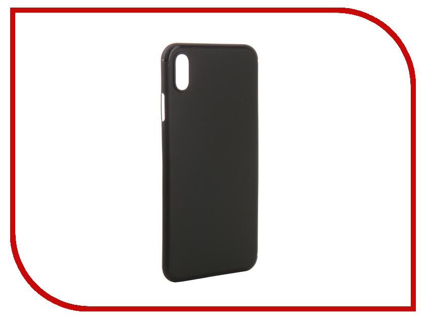 Аксессуар Чехол для APPLE iPhone XS Max Gurdini Ultra Slim 0.1mm Black 907310 gangxun blackview a8 max корпус высокого качества кожа pu флип чехол kickstand anti shock кошелек для blackview a8 max