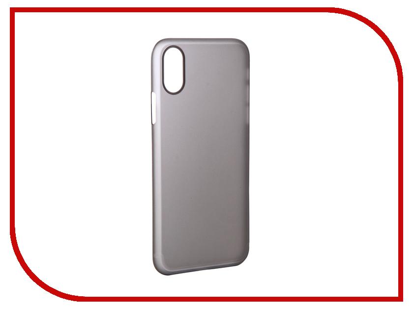 Аксессуар Чехол для APPLE iPhone X/XS Gurdini Ultra Slim 0.1mm Grey 907309