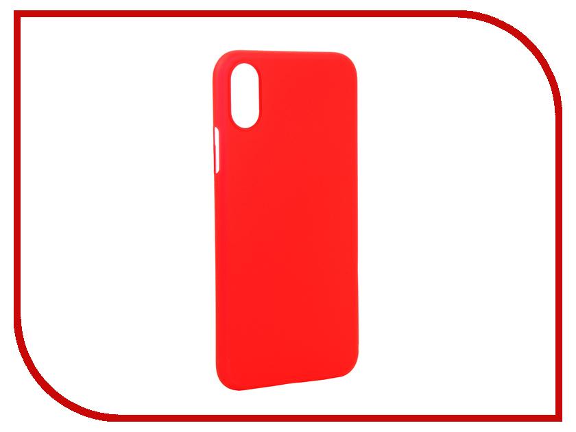 цены Аксессуар Чехол Gurdini Ultra Slim 0.1mm для APPLE iPhone X/XS 5.8 Red 907307