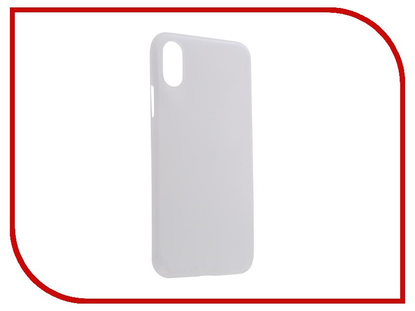Аксессуар Чехол для APPLE iPhone X/XS Gurdini Ultra Slim 0.1mm White 907306 аксессуар чехол alcatel onetouch 5025d pop 3 cojess ultra slim экокожа флотер white