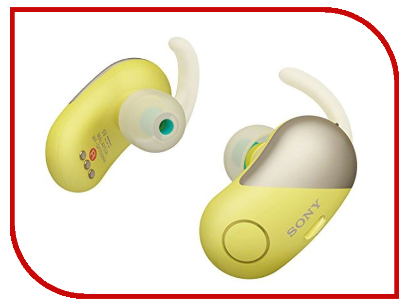 Sony WF-SP700N Yellow sony wf sp700n white