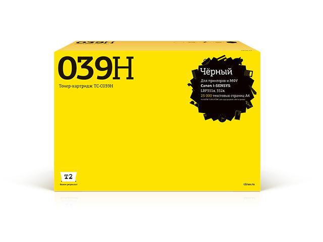 Картридж T2 TC-C039H Black для Canon i-Sensys LBP351x/352x с чипом